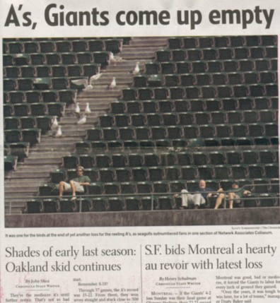 A's, Giants come up empty